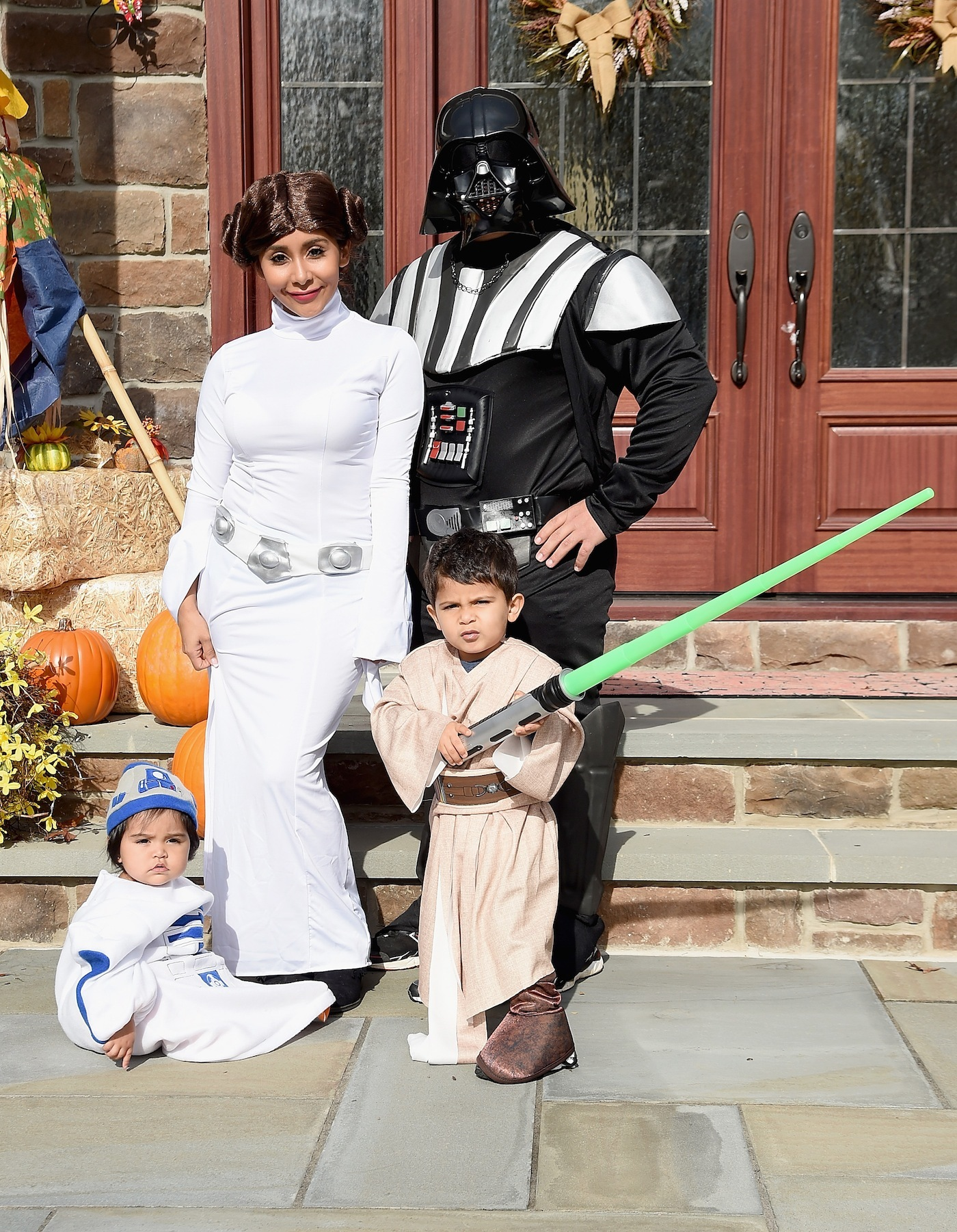ad63270226b Polizzi and her family on Halloween. Image via Getty.
