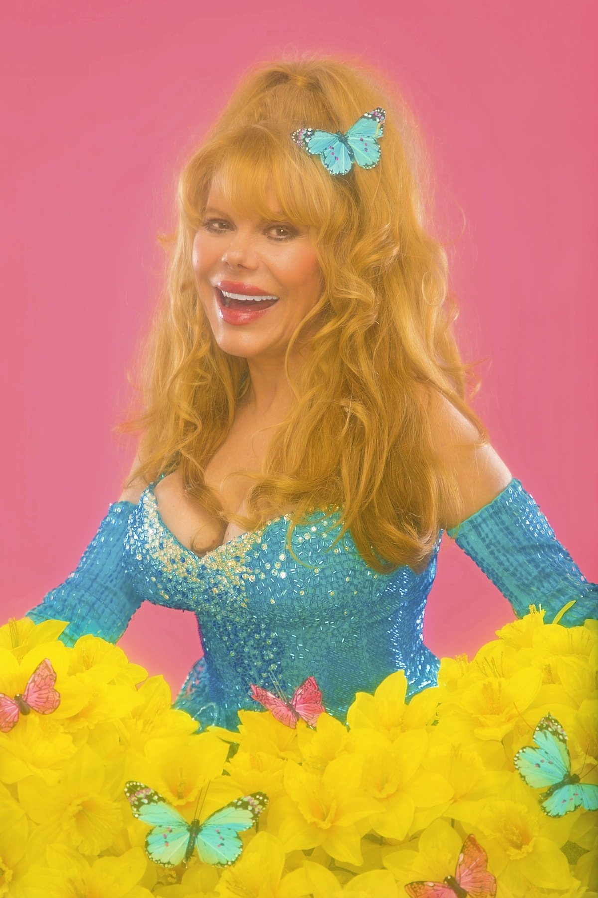 Charo shows her pussy on tv