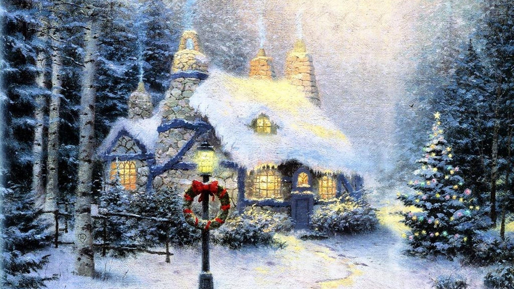 snow covered lies thomas kinkade company allegedly sold. Black Bedroom Furniture Sets. Home Design Ideas