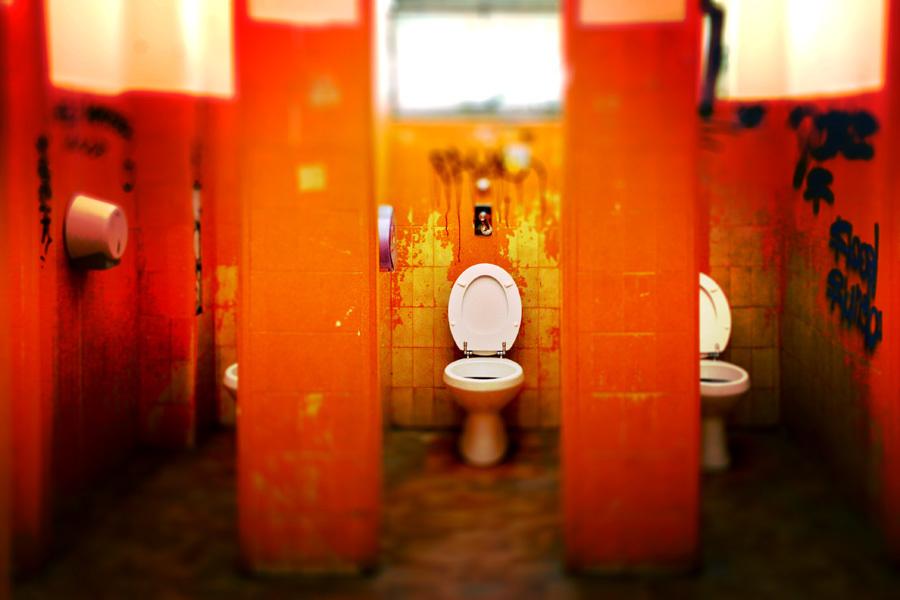 Public restroom unprotected