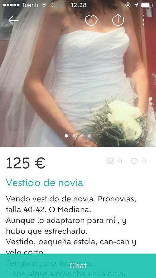 Quiero vender un vestido de novia