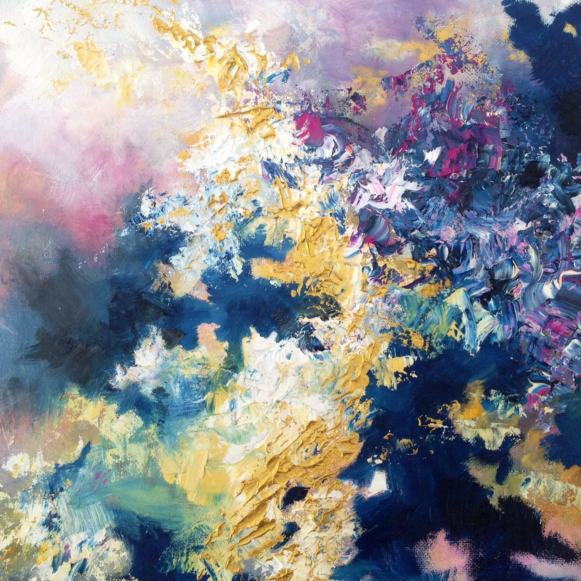 This artist with synesthesia sees colors in music and for Artist canvas paint color