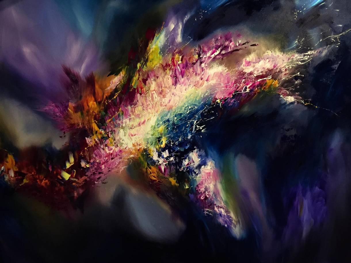 This artist with synesthesia sees colors in music and for Buy mural paintings