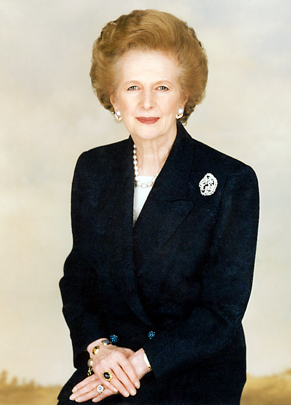 Margaret Thatcher. Photo via Wikimedia Commons