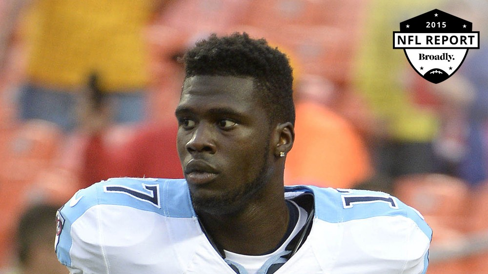 Wide receiver accused of pushing a woman down the stairs broadly