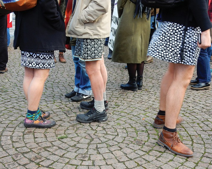 In Amsterdam, Men Wear Mini-Skirts on Anti-Rape March