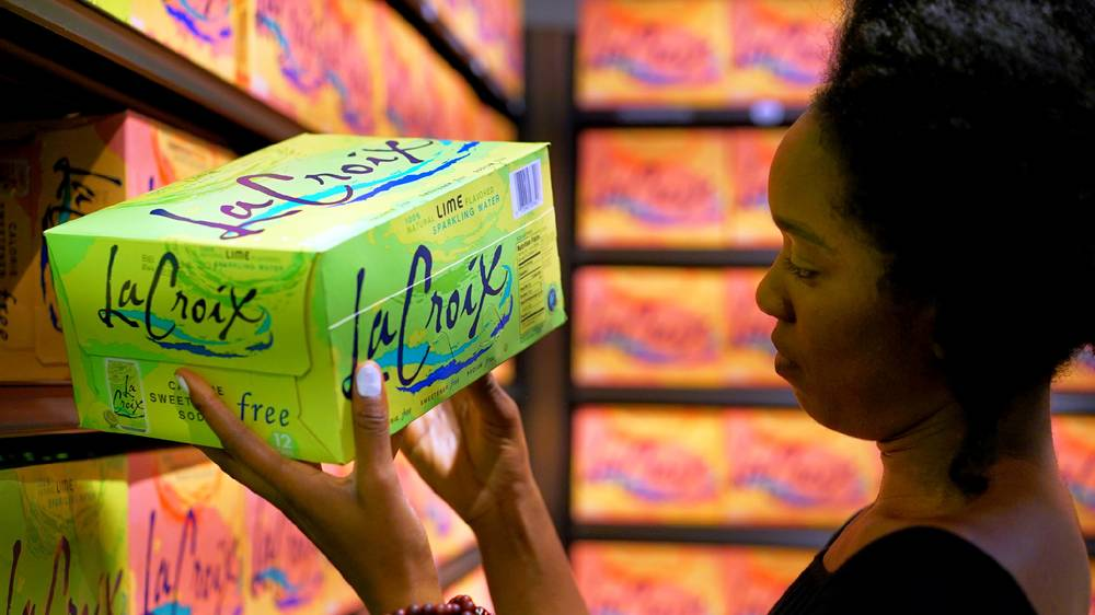 Portraits of Brooklynites Flocking to Massive La Croix Wall in New Whole Foods