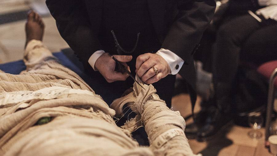 Uncovering the Dead at a Victorian Mummy Unwrapping Party