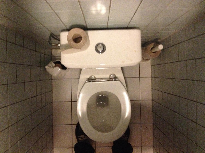 Public toilet pretty dirty