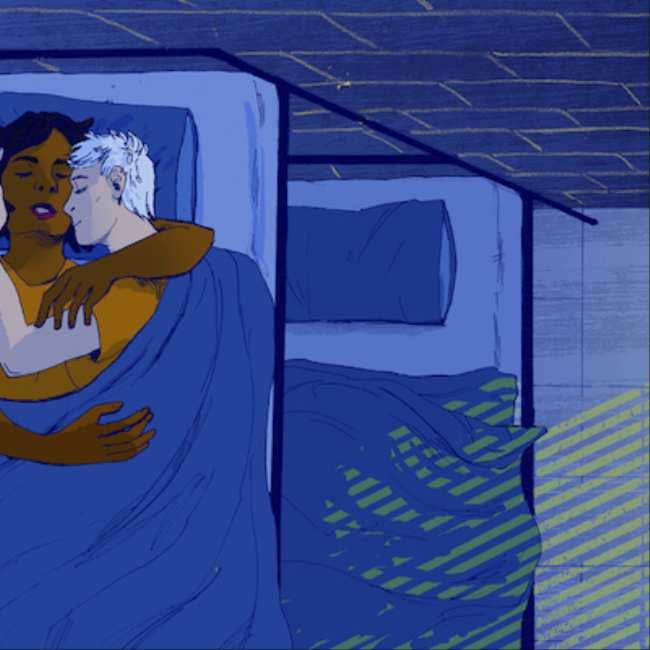 Ebony anker lesbiennes