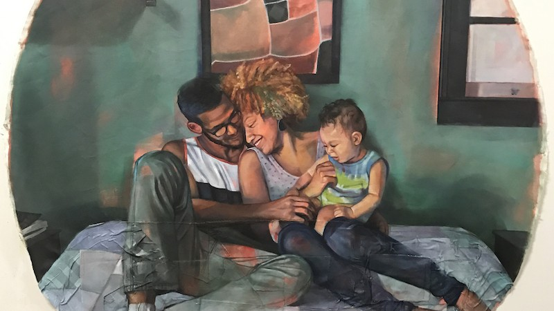 The Artist Painting Intimate Portraits of Interracial Love