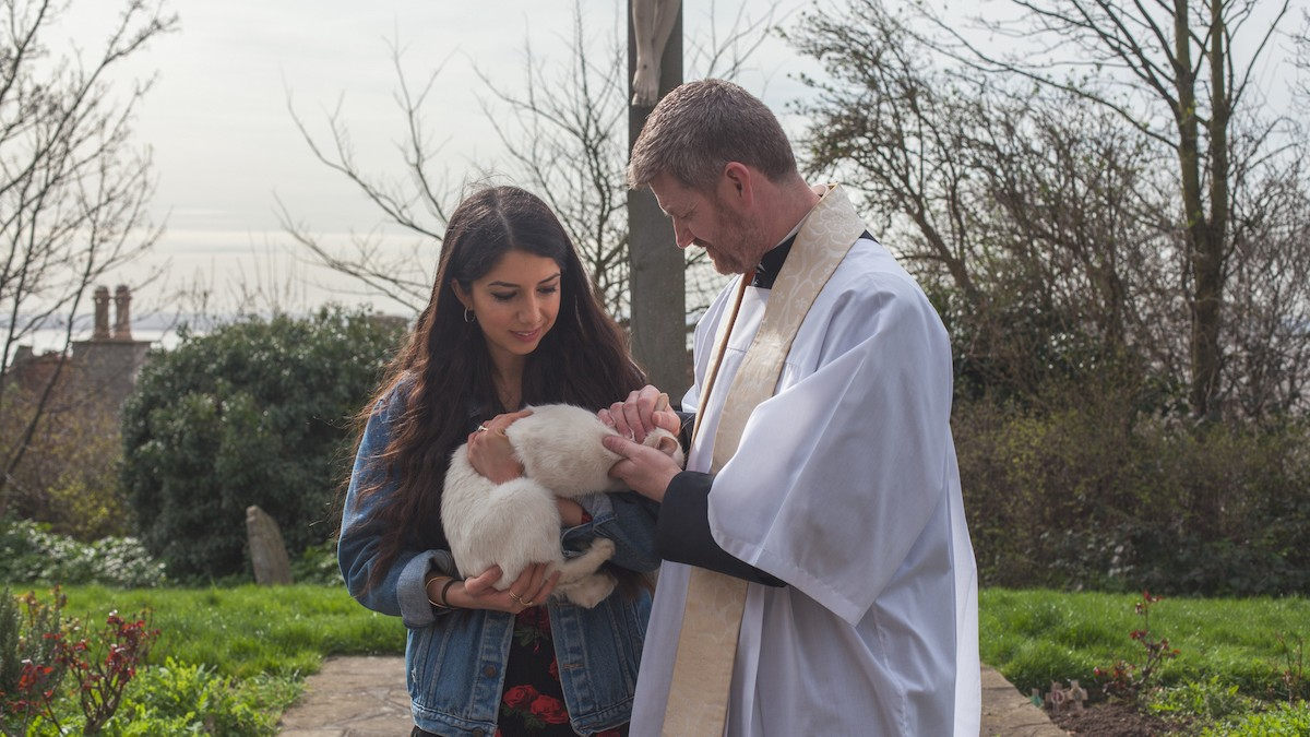 Saving Kittens from Eternal Damnation at a 'Blessing of the Cats' Ceremony